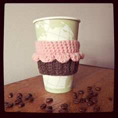 Ravelry: Cupcake Coffee/Tea Cup Cozy FREE pattern by Sarah Mancini