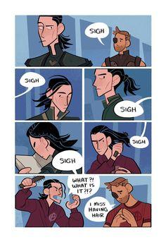 It's all about hair || Thor & Loki || Cr: racheljpierce