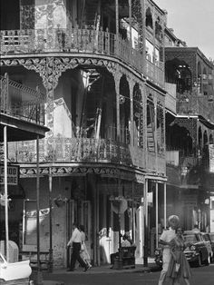 The French Quarter, I love this old black and white shot.