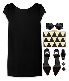 """Geometric Chic"" by grapecar1015 ❤ liked on Polyvore featuring Valentino, Alexander Wang, Yves Saint Laurent, Marc by Marc Jacobs, Kate Spade, women's clothing, women's fashion, women, female and woman"
