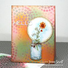 Sizzix puts creativity in your hands with the craftiest die cutting machines, die cutting tools, accessories, and embossing equipment in the arts and craft industry! Flowers In Jars, Flower Pots, Hello Design, Mason Jar Cards, Arts And Crafts, Paper Crafts, Die Cut Cards, Friendship Cards, Card Tutorials