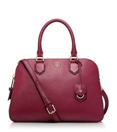 ROBINSON PEBBLED TRIPLE-ZIP SATCHEL