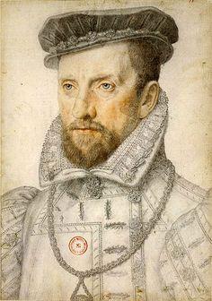 Gaspard de Coligny, leider van de Hugenoten, in de strijd van de katholieken…