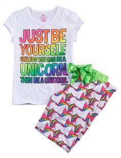 Unicorn 2 Piece Pajama Set | Girls Pajamas & Robes Pjs, Bras & Panties | Shop Justice