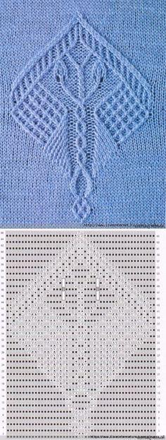Wzory z igłami do robienia na drutach.