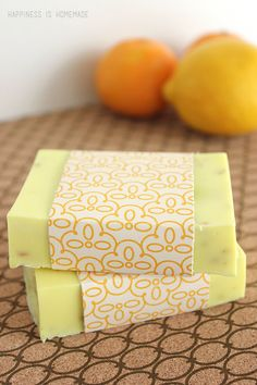 DIY Anti-Bacterial Citrus Melt and Pour Soap Recipe