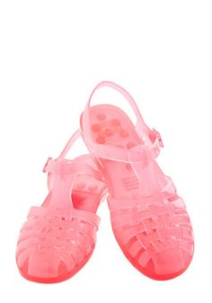 Totally Jelly Sandal in Bright Pink- now only if the had glitter on them. ..