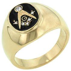 Onyx Masonic Ring (size: 13) - Jewelry