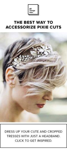 On the red carpet, many celebrities found a new way to show face, and it wasn't with the traditional pulled-back sleek updo. Pixie haircuts — from bleach blonde, to feathery textures — dominated the carpet, however, the standout looks were the ones that involved pretty accessories that dressed up the short hairstyle.  Click for more headband inspo.