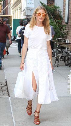 Olivia Palermo - 101 Ways to Wear a White Tee