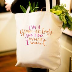 Grown-Ass Lady Tote Bag - $22