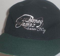 b9747c626bdb4d Boney James Cap Hat Sweet Thing 1997 Jazz Album Snapback Black Green RARE  #Otto #