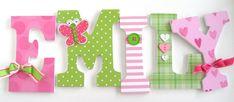 Conjunto bebé vivero madera Letras tema de mariposa por LetterLuxe