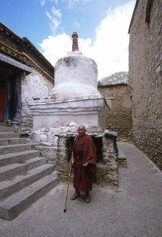 Elderly Tibetan Monk