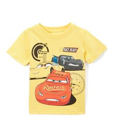 Love this Yellow Cars 3 'Race Ready' Tee - Toddler by Children's Apparel Network on #zulily! #zulilyfinds