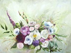 Floral Oil Painting Flowers Art Original // Away by KatieJobling