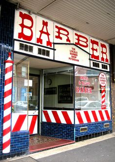 Haircuts Barber shop, Petersham. Photo: Gabriel Zeng