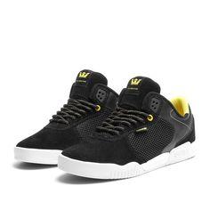 SUPRA ELLINGTON Shoe | BLACK / NEON - WHITE | Official SUPRA Footwear Site