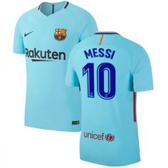 15b382883bbfbc Barcelona Lionel Messi 10 Udebanetrøje 17-18 Kort ærmer  Billige   Fodboldtrøjer Fussball