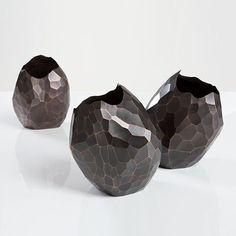 David Wiseman patinated facet vase