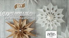 DIY: große Weihnachtssterne aus Brotpapiertüten basteln [How to] Deko Ki...