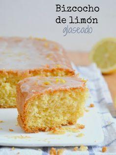 Bizcocho de limón glaseado   Cuuking! Recetas de cocina