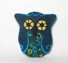 Felted owl-too cute!