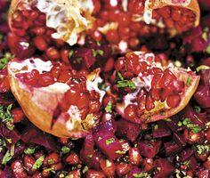 Sallad med rödbetor & granatäpple