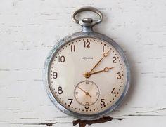 "Pocket watch OLD Soviet watch Russian watch WORKING- Made in 1957 in USSR Russian ""Zlatoust"" mens Vintage"