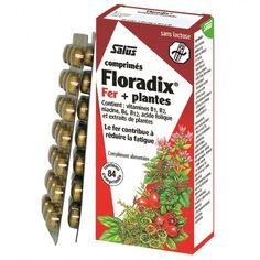 Floradix fer + plantes - 84 comprimés - salus - carence en fer
