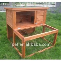 Newest 3FT 2 Story Outdoor Wooden Rabbit Cage with Wood Floor Large Run, View Rabbit cage, Ipet Product Details from Fujian Zhenghe Xingye B...