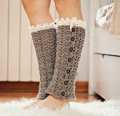 Crochet PATTERN for leg warmers (pdf file) - Luxury Leg Warmers Crochet Leg Warmers, Crochet Boot Cuffs, Crochet Boots, Crochet Slippers, Crochet Clothes, Knit Crochet, Free Crochet, Knitting Patterns, Crochet Patterns