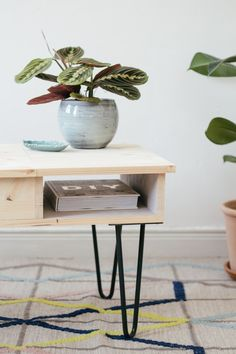 DIY : la table basse & ses hairpin legs (sans clou ni vis) - Carnet de printemps