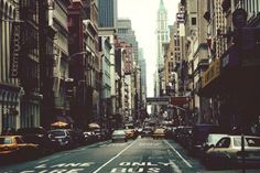 • photography photo vintage cars NYC city new york new york city sweet uploaded Broadway buildings wo-ha •