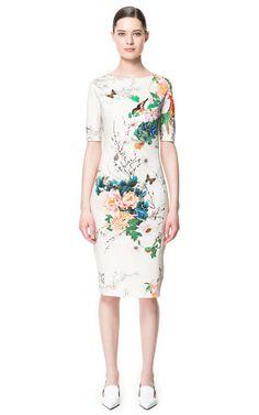 PRINTED DRESS - Dresses - Woman - ZARA United States