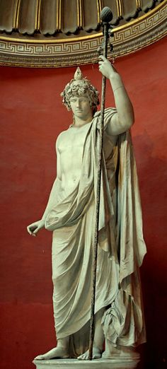Antinous as Dionysos-Osiris, favored by Hadrian the Emperor of Rome. This colossal marble statue is housed in the Museo Pio Clementino,Sala Rotunda, the Vatican Museums. Ancient Rome, Ancient Greece, Ancient Art, Greek Gods And Goddesses, Greek And Roman Mythology, Sculpture Romaine, Roman Sculpture, Greek Art, Classical Art