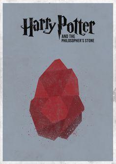 Minimal Harry Potter Film Poster