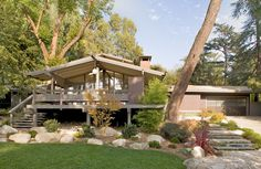 Thompson Mosley House -- originally designed by Buff, Straub & Hensman in 1959 -- is a classic post and beam house located in San Merino, CA.
