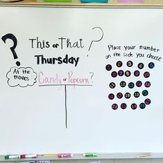 Board for tomorrow! Polls are a great way to get going on opinion writing or graphing! My board is magnetic, so the numbers move nice and easy! 😅 iteachfifth thisorthat teach is part of Whiteboard questions - Daily Writing Prompts, Writing Rubrics, Paragraph Writing, Persuasive Writing, Future Classroom, Classroom Ideas, Classroom Board, Classroom Inspiration, Classroom Organization
