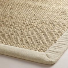 Linen Bordered Chunky Weave Jute Area Rug | can't beat 300$ for 8x10