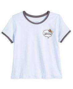 Hello Kitty Graphic T-Shirt, Big Girls (7-16) - Blue XL