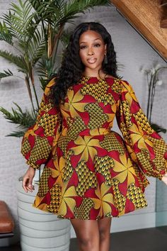African Dresses Here at Grass-fields we have an awesome range of African dress designs. Whether you're after an African print maxi or midi dress, we've got something for you. African Party Dresses, Short African Dresses, Ankara Short Gown Styles, Short Gowns, African Print Dresses, Ankara Gowns, African Prints, African Dress Designs, Ankara Maxi Dress