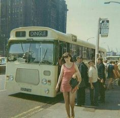 No 1 bus to Dingle, The Strand, Liverpool. Liverpool Docks, Liverpool History, Liverpool Street, Liverpool England, James Bond Movie Posters, Funny Pictures Of Women, Mod Girl, Girls Slip, Bus Coach