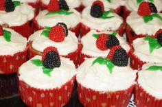 Frutas selecionadas para o topo dos cupcakes