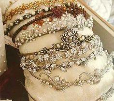 Vintage tiaras...wonderful