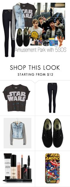 """""""Amusement Park with 5SOS"""" by marissa-louise ❤ liked on Polyvore featuring James Jeans, American Eagle Outfitters, Vans, Smashbox, Marvel Comics and CO"""