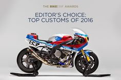 Editor's Choice: Bike EXIF's Top 15 notable custom motorcycles from 2016, headlined by the Optimus PRAËM BMW S 1000 RR.