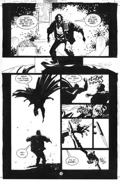 MIKE MIGNOLA, Legends of the Dark Knight Comic Art