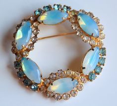 Gorgeous Vintage Opalescent Clear & Baby Blue by Bernasfinds