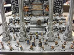 dwarves (blue/gold scheme) Fantasy Model, Fantasy City, Game Of Thrones Rpg, Lotr Games, Wargaming Terrain, Source Of Inspiration, Miniture Things, Middle Earth, Lord Of The Rings